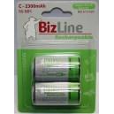 Piles rechargeables BizLine LR14 C 2300mAh NiMH