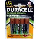 Piles rechargeables DURACELL AA NiMH (2450mAh/2650mAh)