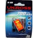 Piles rechargeables UNIROSS AAA 700mAh NiMH Telephone (x6)