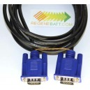 Cable VGA Male vers VGA HD-15 10 Gbps (1.5m/2m)