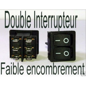 Switch Interrupteur Double - compact 250v 12v