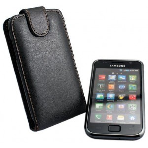 Housse coque étui cuir Samsung Galaxy S i9000