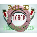 Cable HDMI M/M Full HD Plaqué OR 2 mètres Rose DVD XBOX
