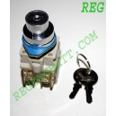 Interrupteur Contacteur à clé Clef de contact - 220v 4.5A - NO NF
