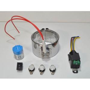 Kit Réchauffeur 12v ceinture chauffante 100w filtre a Gasoil, biodiesel, huile