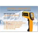 Thermomètre infrarouge 1150°C à visée laser