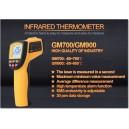 Thermomètre infrarouge 700°C à visée laser