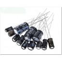 Lot Condensateurs électrolytique 0.22µF-470µF