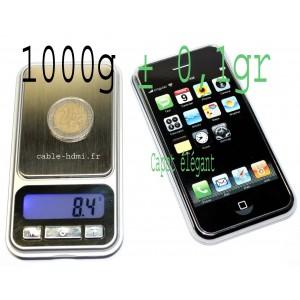 Mini Balance electroniq?ue monnaie 1000g ± 0,1g iphone IPS300