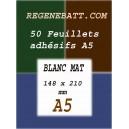 50 Papier Autocollant Adhésif de Bonne Qualité A5 Laser