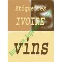 Feuilles Ivoire autocollantes, Adhésif Bouteille vin